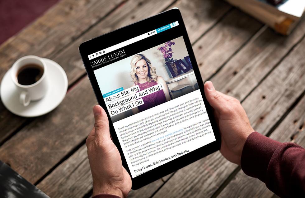 Carrie Luxem, Restaurant Human resource expert website