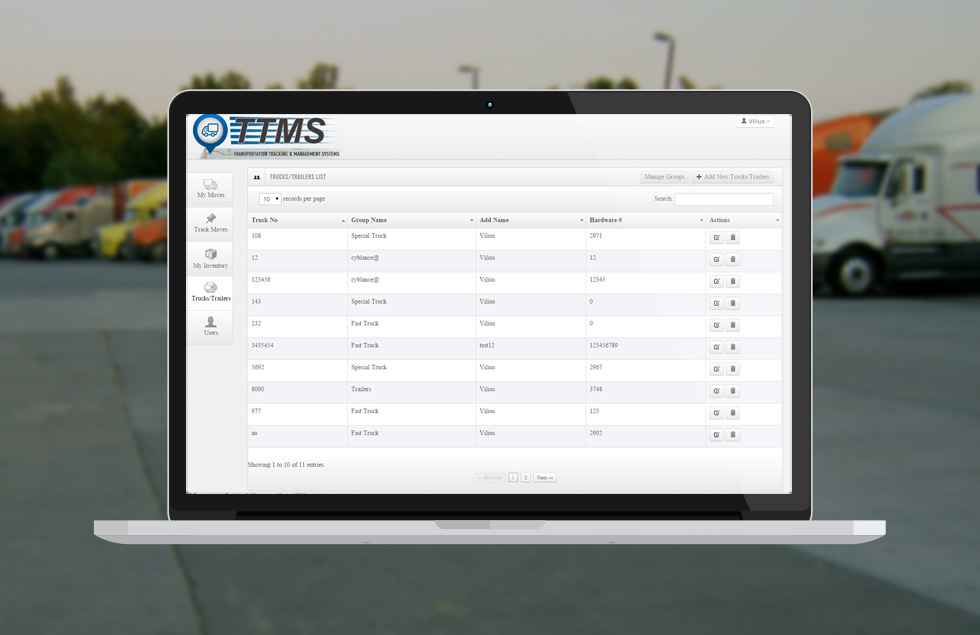 TTMS , Transport Tracking and Management Web application